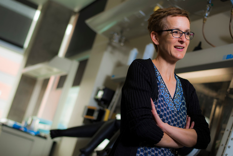 Chemist Jillian Buriak is designing the next generation of solar cells. Photo credit: John Ulan