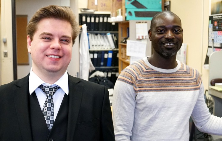 Research Associate Anton Oliynyk and Post-Doctoral Fellow Lawrence Adutwum.