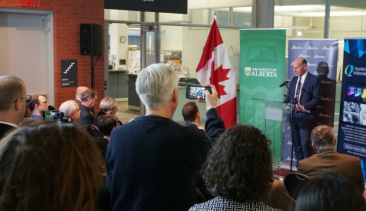 Associate Vice-President (Research) Walter Dixon speaks at the CCITF funding announcement.