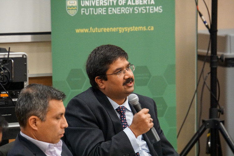 Future Energy Systems Deputy Director and Principal Investigator Amit Kumar speaking at the Future of Energy Conference.